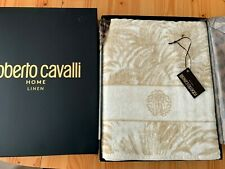 ROBERTO CAVALLI Tropical Print cotton Bath Sheet towel Velour finish 100x150cm
