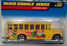 Hot Wheels 1997 736 Mixed Signals Ford School Bus Die Cast Scale Model