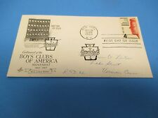 First Day Cover, Centennial of the Boys' Clubs of America Movement, 1960, FDC