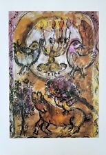"Marc Chagall + Original Offset Lithograph of ""Issachar"" 30 years Old"