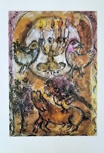 """Marc Chagall + Original Offset Lithograph of """"Issachar"""" 30 years Old"""