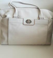 Kate Spade New York Cream 100% Cow Leather Purse Pocket Book Shoulder Bag TOTE