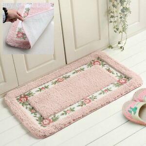 Super Soft Carpet Door Floor Bath Mat Bathroom Shower 15.75x23.62in Pink Comfort