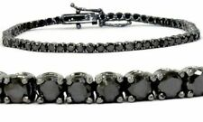 3.00 CT Black Round Diamond 14K black Gold Tennis Bracelet
