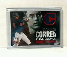 Astros CARLOS CORREA  2012 Elite Extra 1st OVERALL PICK JERSEY #/999 Rookie Card