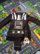 BNWT Disney Star Wars Darth Vader Pyjamas With Cape Glow In Dark 3-4 Years