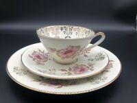 3 Piece Set ALKA KUNST Porcelain Cup, Saucer & Plate Bavaria Germany Trio 1379