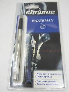 Stylo Plume Fountain Pen - WATERMAN PARIS - CHROME -  ETAT NEUF / MINT - TOP