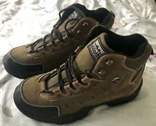 New listing MOUNTY Walking/Hiking/Trial Outdoor High Top Khaki & Brown Boots Size UK 9 BNWOB
