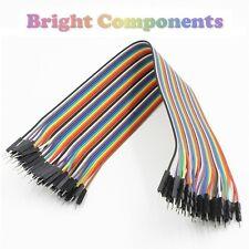 40pcs Dupont Jumper Ribbon Cable : 20cm : Male-Male : UK : 1st CLASS POST