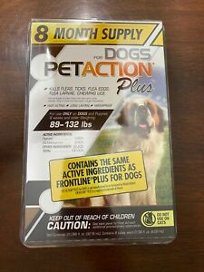 PetAction Plus For Dogs 89-132 lbs. 8 Month Supply FREE SHIPPING!