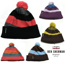 Ben Shermans Unisex Angora Bobble Beanie Hats Mens Womens Warm Winter Hats