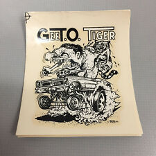 Collectible Vintage Rat Fink Ed Roth GTO Gee T.O. Tiger Water Slide Decal