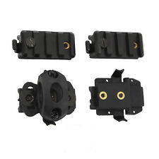 Airsoft Helmet Picatinny Rail Light Adapter Clamp 4 PC Accessory Pack Kit 30-100