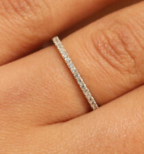 1 ct ENGAGEMENT BAND IN 18K WHITE GOLD FINISH FOR WOMEN VERY CLASSY SIZE 8