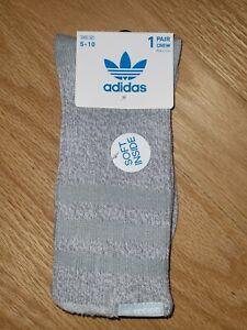 Adidas Originals House Women's Crew Socks Gray, Size 5-10