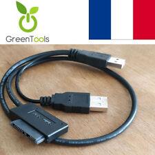 Adaptateur USB 2.0 vers Mini Sata II 7 + 6 13Pin Lecteur CD/DVD ROM