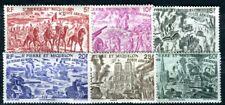 ST PIERRE et MIQUELON 1946 Yvert PA 12-17 * SATZ TCHAD AU RHIN (F4037
