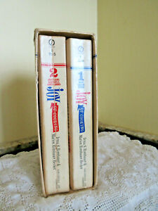 Vtg Joy of CookingTwo Volumes 4300 Recipes Illustrations Paperback Books In Case