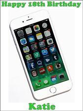 Telefono cellulare Personalizzato I phone 6 commestibile glassa Torta Topper a4