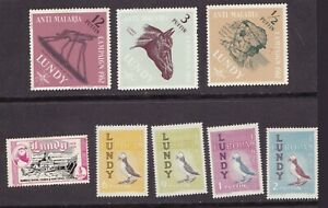 Lundy Island 1962 Birds Set of Stamps MH Plus a few other Lundy Stamps