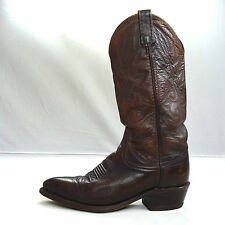 Vtg Reddish Brown Leather DAN POST Western Roper Cowboy Boots Made in USA 7 D