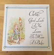 Handmade Personalised Peter Rabbit Baby Shower / Leaving To Have A Baby Card