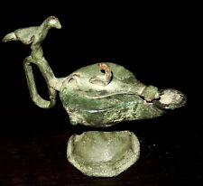 LAMPE A HUILE PERSE EN BRONZE - KORASSAN 900/1200 AD - BRONZE PERSIAN OIL LAMP