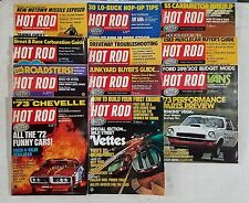 Hot Rod Magazine 1972 - Near Complete Year 11 Issues - Great For Restorations