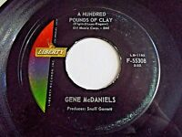 Gene McDaniels A Hundred Pounds Of Clay / Come On Take A Chance 45 Vinyl Record