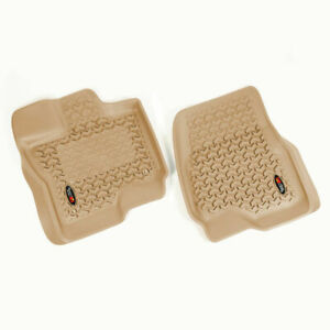 Floor Liners, Front, Pair, Tan, 15-17 Ford F-150