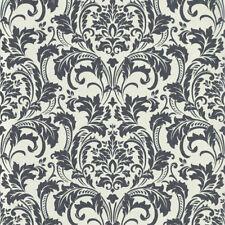 Deluxe Black White Glass Beads Damask Wallpaper Guido Maria Kretschmer 41005-60