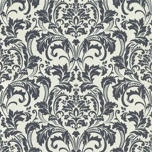 SALE Deluxe Black White Glass Beads Damask Wallpaper Guido Kretschmer 41005-60