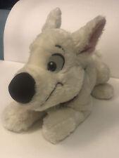 Disney Store BOLT White Stuffed Dog 14 inch Plush Superhero Hero Puppy