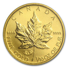 1998 Can 1/10 oz Gold Maple Leaf BU (Family of Eagles, In Assay) - SKU #30566