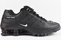 Nike Shox NZ EU (Mens Size 9) Shoes 501524 091 Black Leather