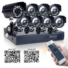 8CH DVR 700TVL Waterproof 1/4CMOS 24IR 3.6mm Outdoor Security CCTV Camera System