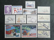 GROENLAND GREENLAND  231 / 243  NEUFS **  1994 COMPLET SAUF BF  COTE 47,25 EUROS
