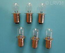 (6) SKIL 18v Volt Flashlight Model 2897 Replacement Xenon Bulbs / #1619P05627