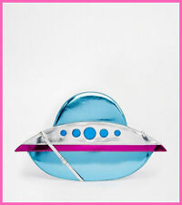 Womens Holographic Metallic UFO Bag Alien Messenger Handbag Halloween Harajuku