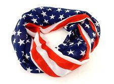 "Patriotic Infinity Scarf ~ American Flag Stars & Stripes, 30"" x 28"", #L8000"