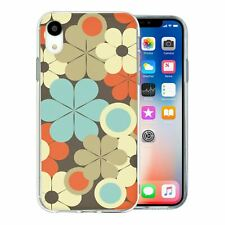 For Apple iPhone XR Silicone Case Vintage Pattern - S461