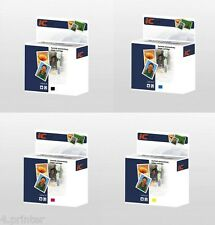 Set completo di 4 cartucce d'inchiostro compatibile con BROTHER LC1100 LC980 BK, C, M, Y