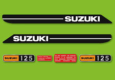 1970 Suzuki T125II Stinger - Decal Set