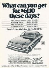 1979 Buick LeSabre whitewalls -  Classic Car Advertisement Print Ad J95