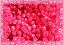 Rose Cabochon Blazon Red Roses Resin Retro Flower 10mm Gorgeous Flatback
