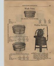 1903 PAPER AD Uncle Sam Cyprus Wood Washing Machine Hand Power