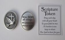 cc With God all things are possible SCRIPTURE POCKET TOKEN Ganz prayer faith
