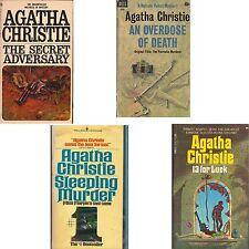 LOT 4 PB Agatha Christie ADVERSARY SLEEPING MURDER 13 LUCK OVERDOSE DEATH C2