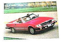 MERCEDES 107 SL CONVERTIBLE TOP OWNERS MANUAL OWNER'S BOOK 560SL 450SL 380SL